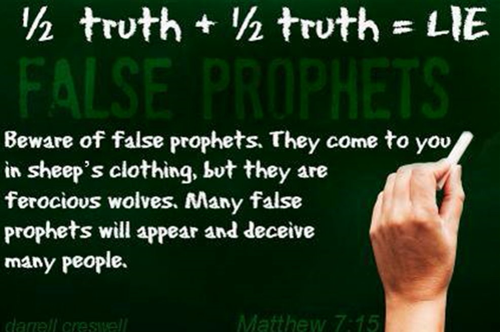 1/2 truth + 1/2 truth = LIE