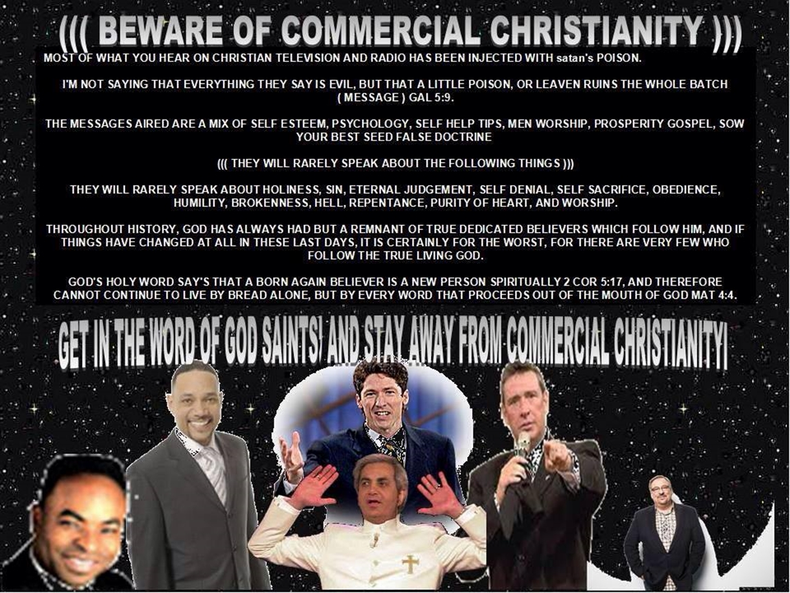 Avoid Commercial Christianity