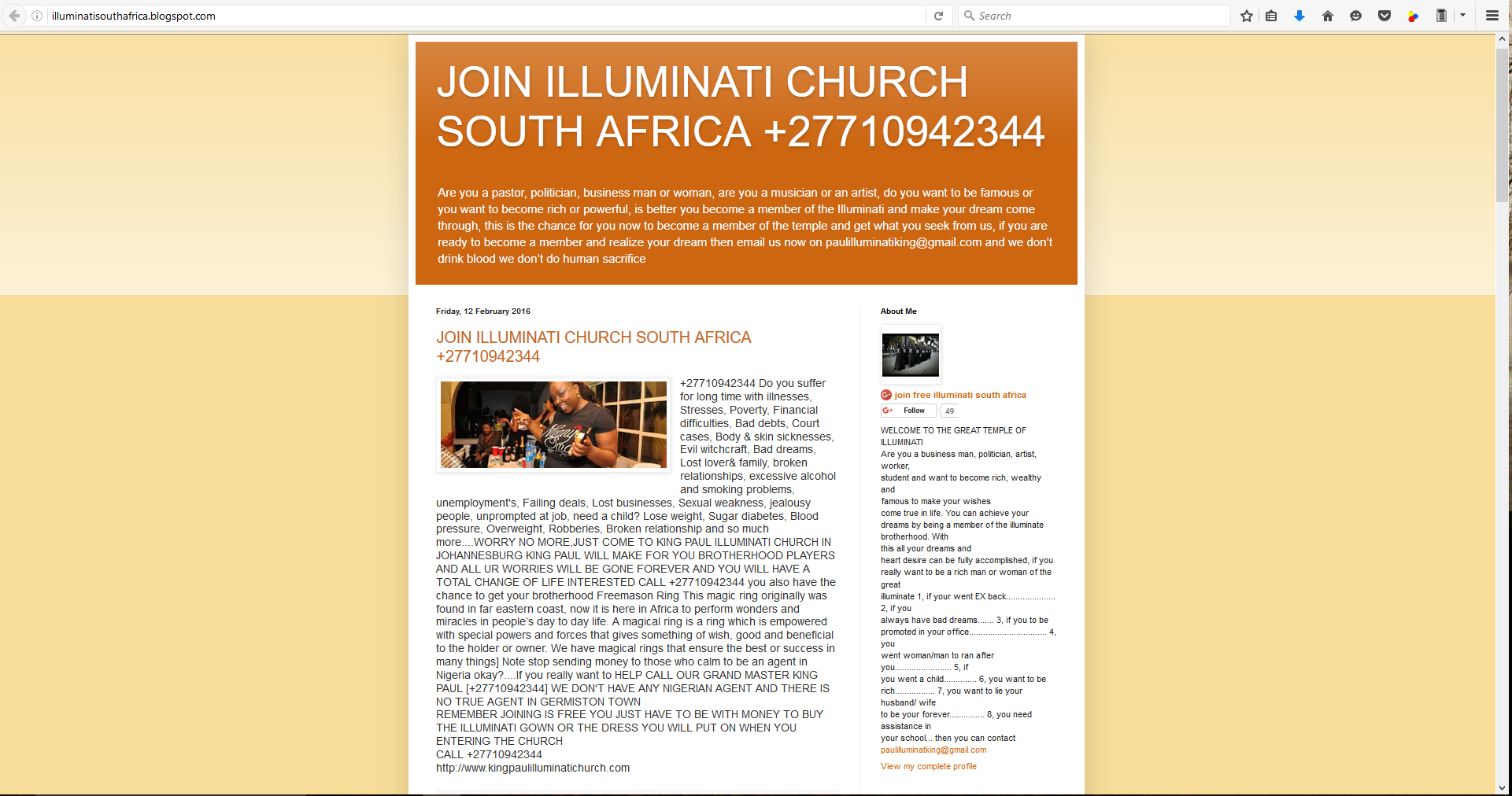 How to join the Illuminati Church